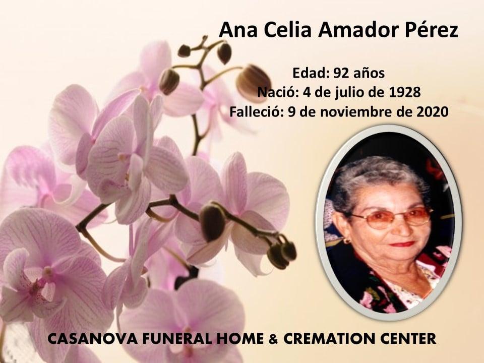 Ana Celia Amador Pérez